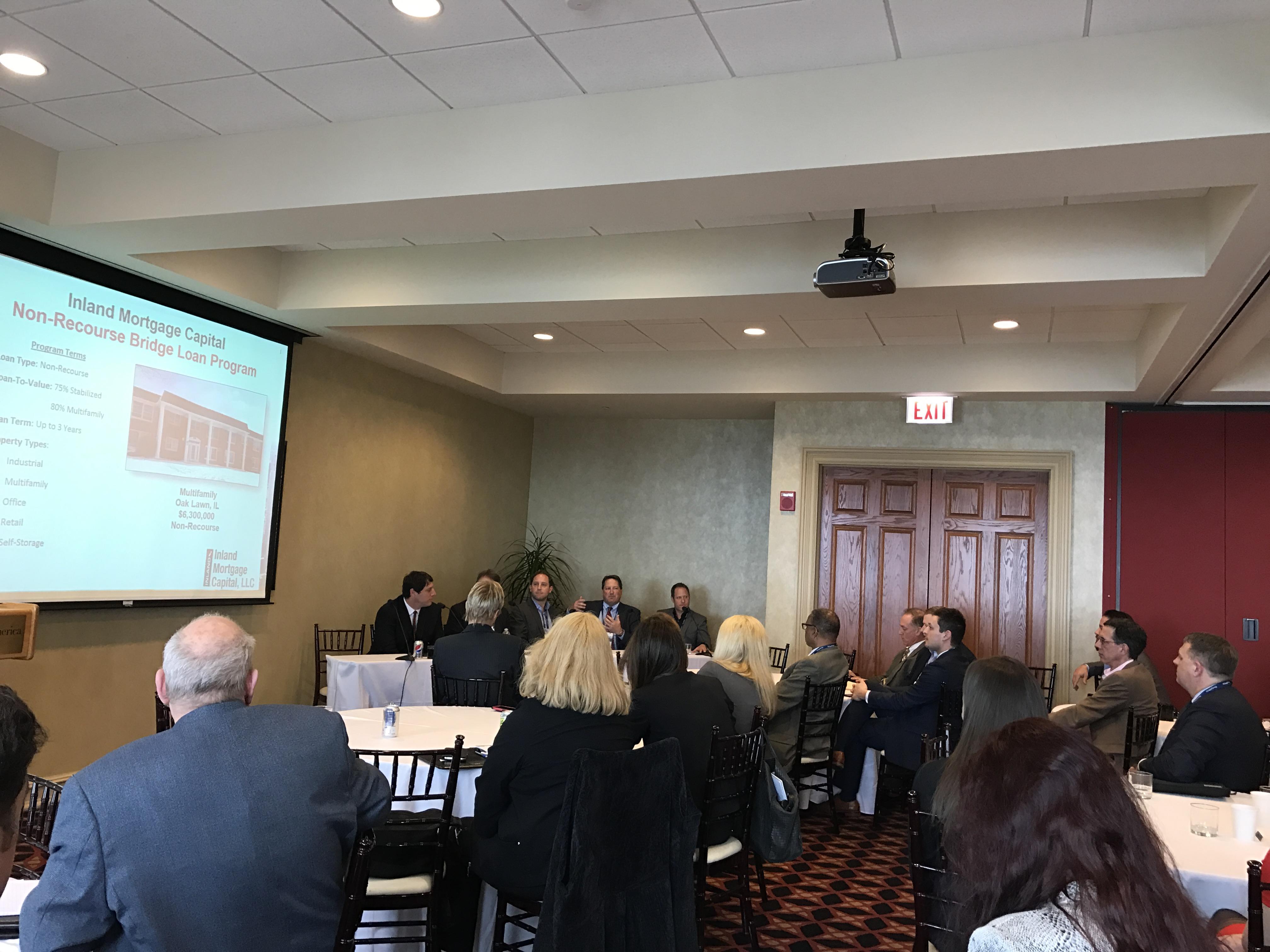President of Inland Mortgage Capital, Art Rendak, speaks at