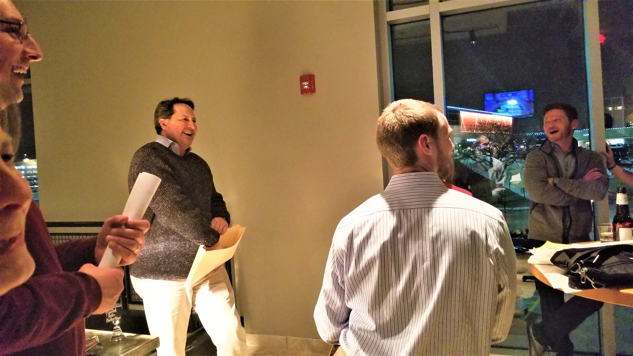 Art Rendak created a fun, fast-paced trivia game for the IMC team during the 2018 Holiday Party.