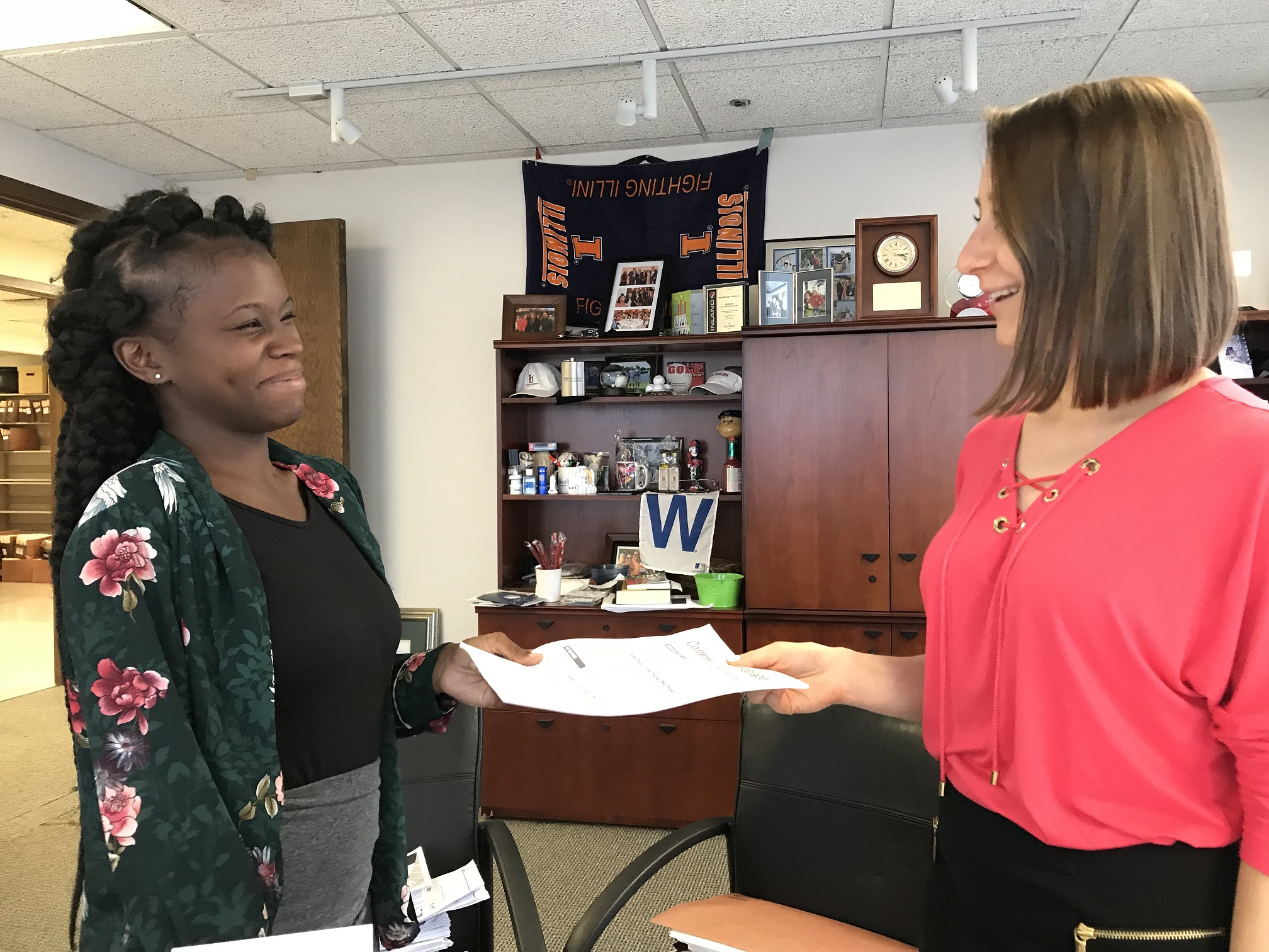 Anna Kuta and Chicago All-Stars Project's Tynita King collaborate on a marketing project during her 2018 Development School for Youth summer internship. For more information on Chicago All Stars Project, Inc., please visit: https://allstars.org/locations/